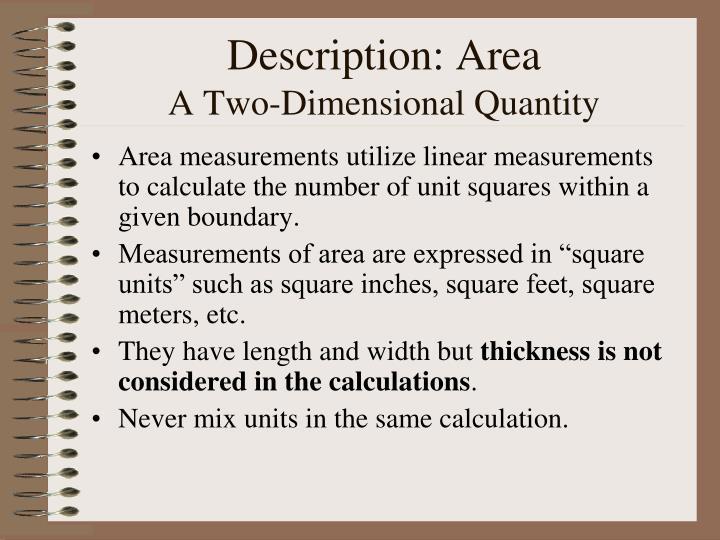 Description: Area
