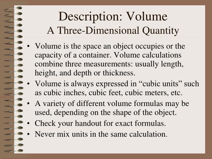 Description: Volume
