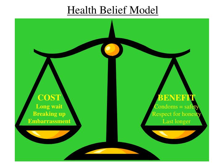 health belief models Health belief model (hbm) (gm hochbaum, 1958 subsequently modified by other authors) purpose the hbm was originally developed in the 1950s by social psychologists working at the us public.