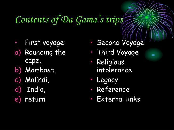 First voyage: