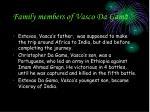 family members of vasco da gama