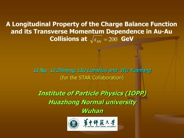 A Longitudinal Property of the Charge Balance Function and its Transverse Momentum Dependence in Au-...