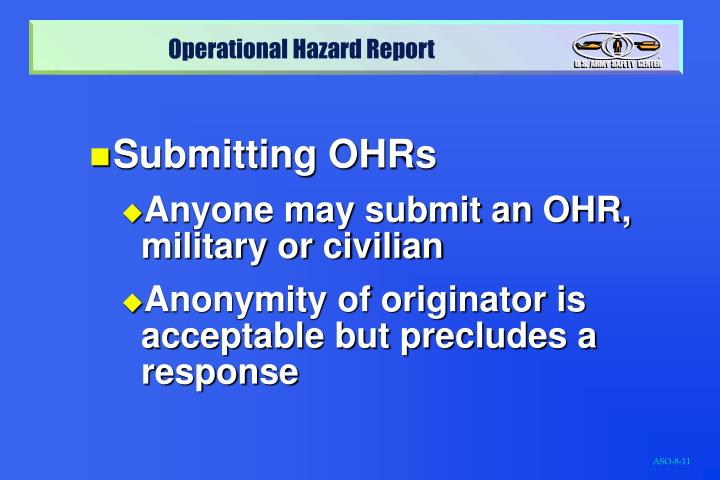 Submitting OHRs