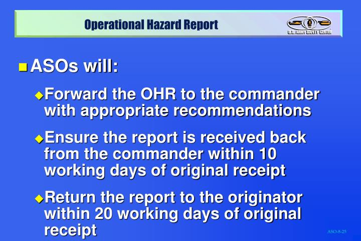 ASOs will: