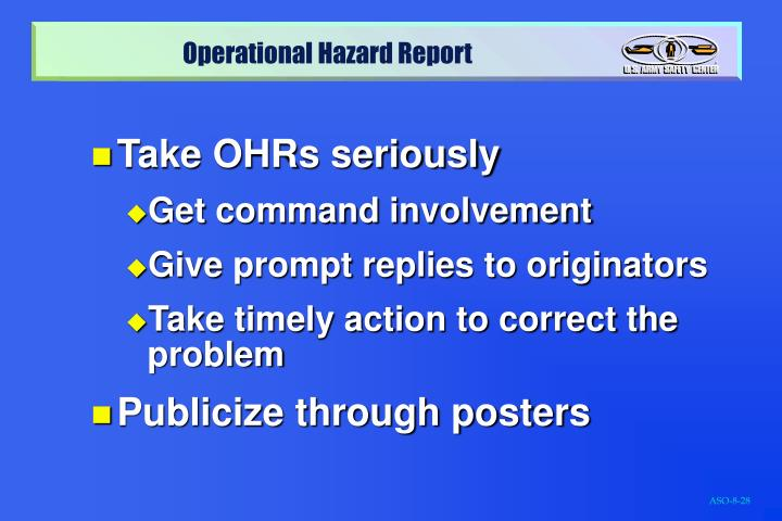 Take OHRs seriously