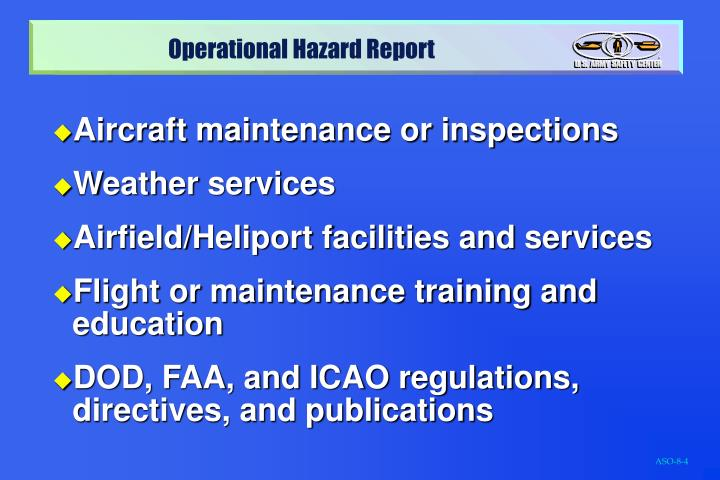 Aircraft maintenance or inspections