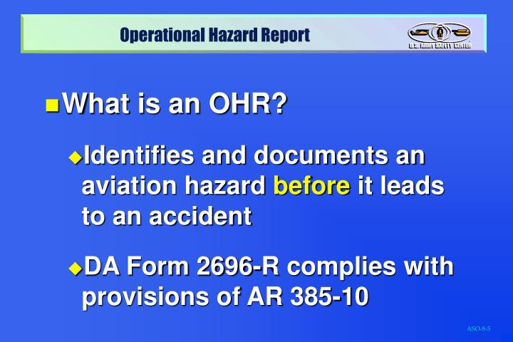 What is an OHR?