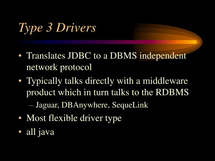 Type 3 Drivers