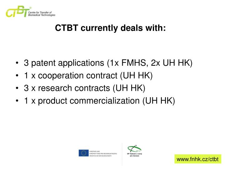 CTBT currently deals with: