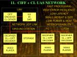 11 ciff cl uas network