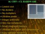16 ciff cl hardware