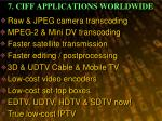 7 ciff applications worldwide