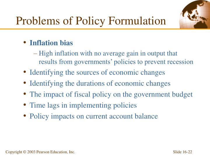 Problems of Policy Formulation