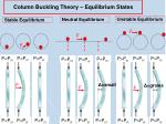 column buckling theory equilibrium states