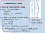 column buckling theory