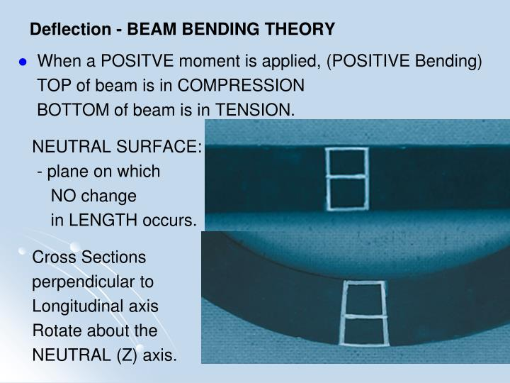 Deflection - BEAM BENDING THEORY