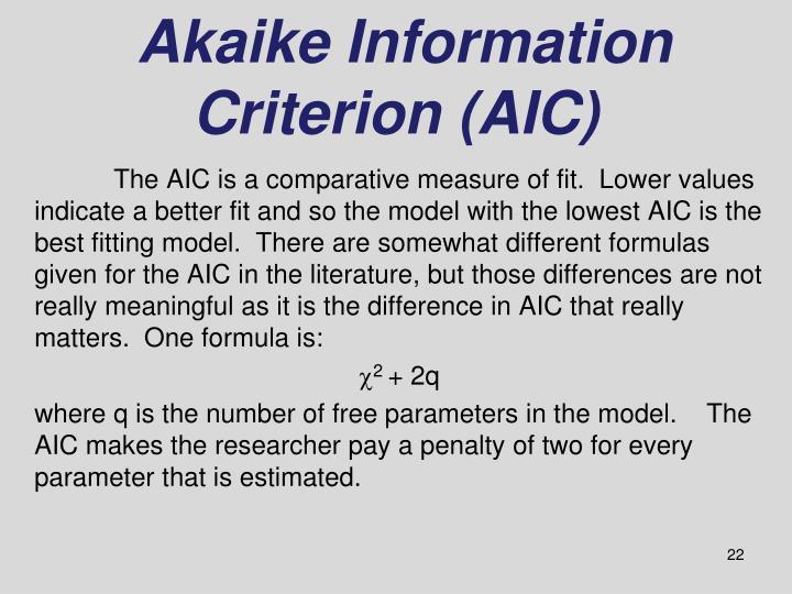 Akaike Information Criterion (AIC