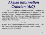 akaike information criterion aic