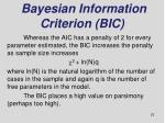 bayesian information criterion bic