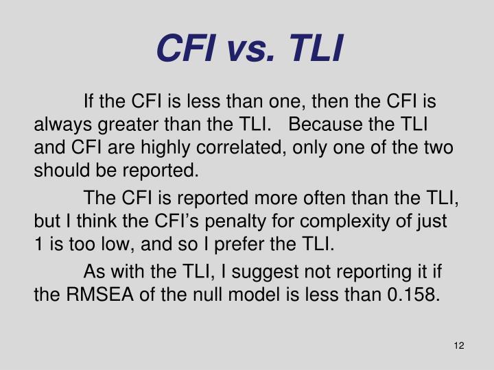 CFI vs. TLI