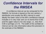 confidence intervals for the rmsea