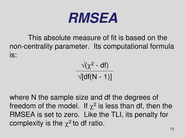 RMSEA