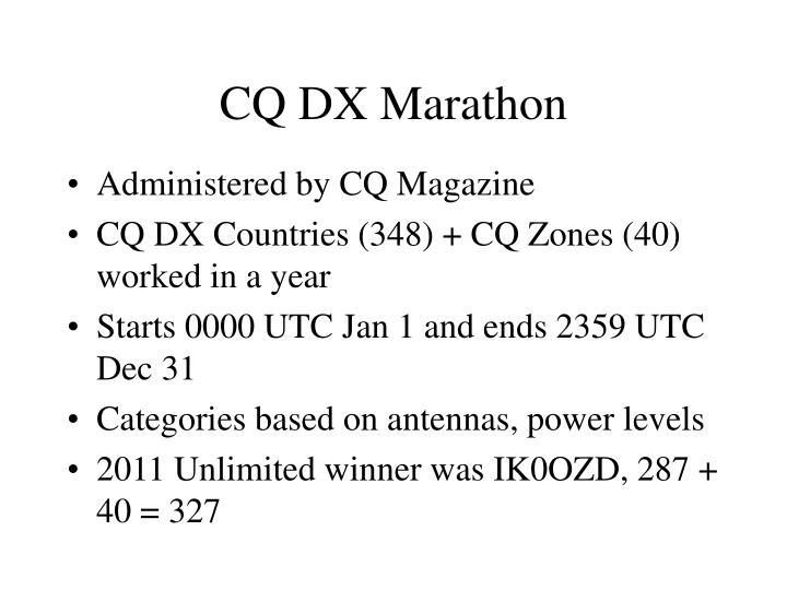 CQ DX Marathon