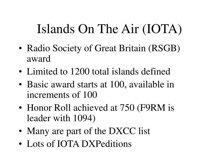 Islands On The Air (IOTA)