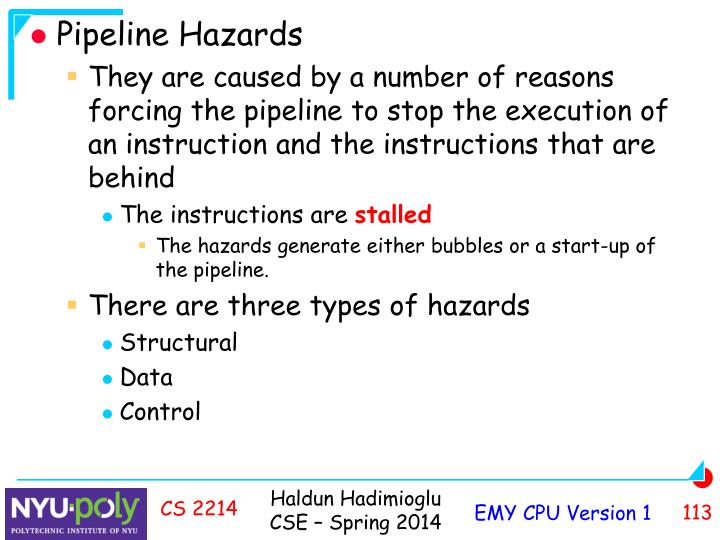 Pipeline Hazards