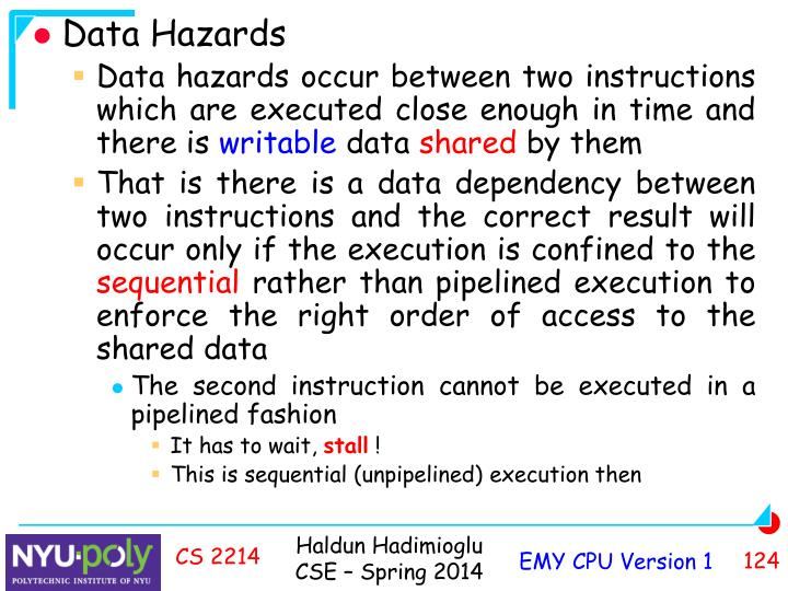 Data Hazards
