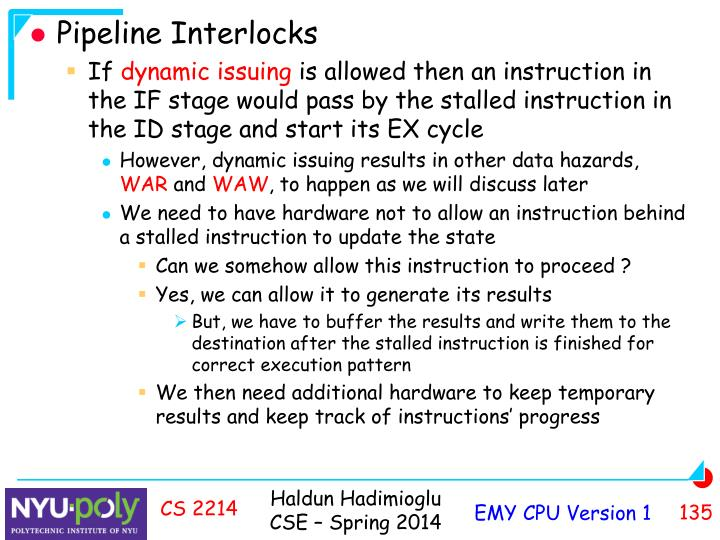 Pipeline Interlocks