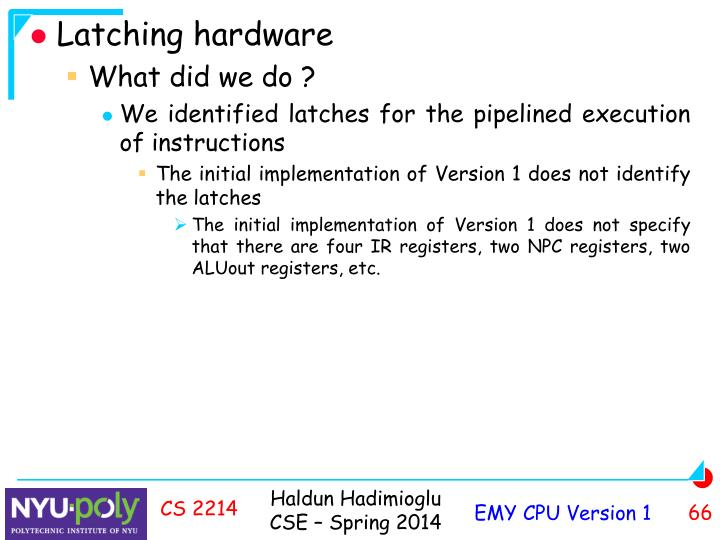 Latching hardware