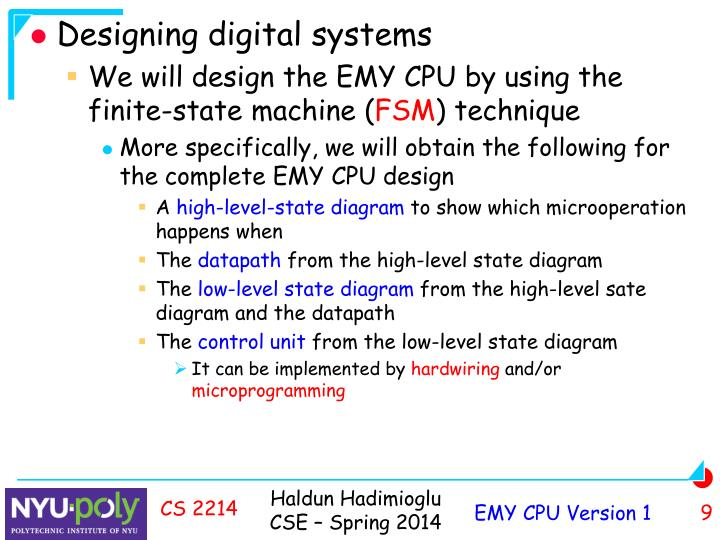 Designing digital systems