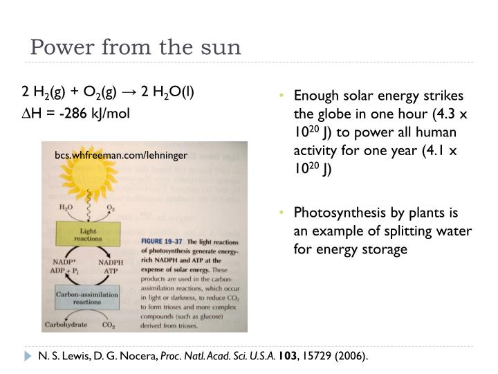 Power from the sun