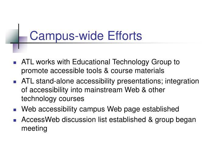 Campus-wide Efforts