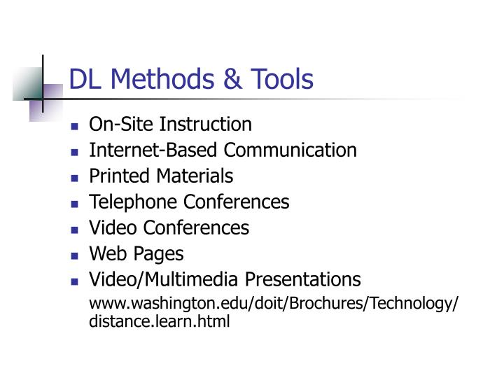 DL Methods & Tools