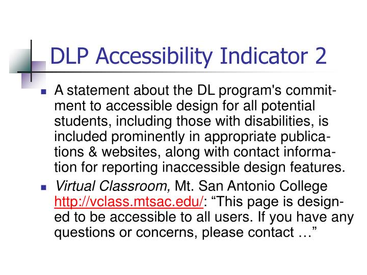 DLP Accessibility Indicator 2