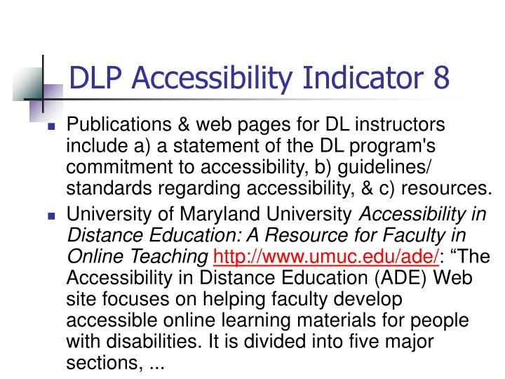 DLP Accessibility Indicator 8
