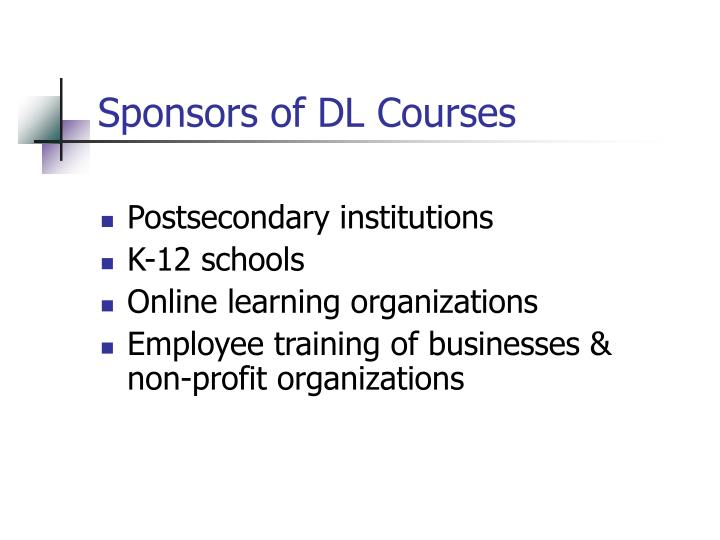 Sponsors of DL Courses