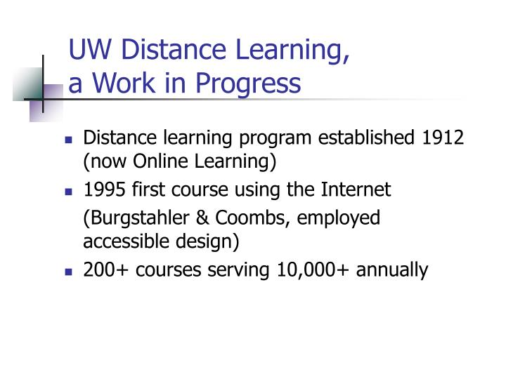 UW Distance Learning,