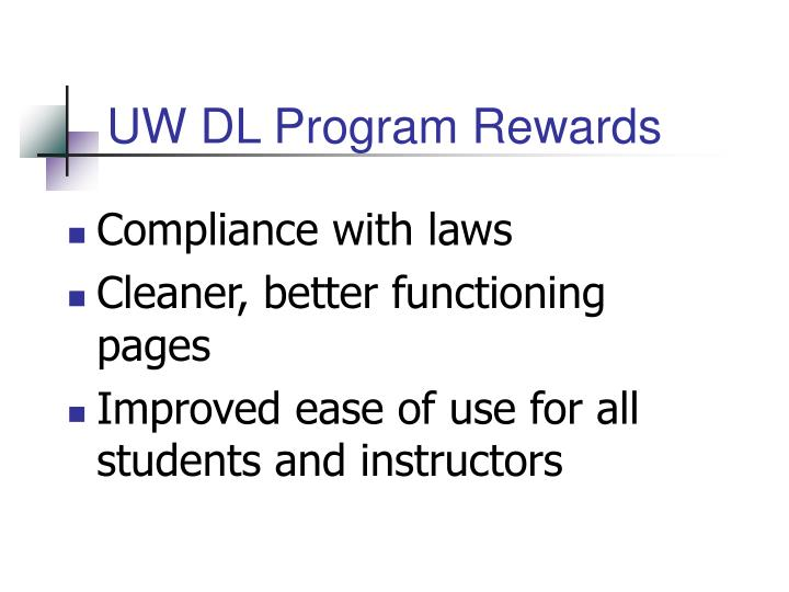UW DL Program Rewards