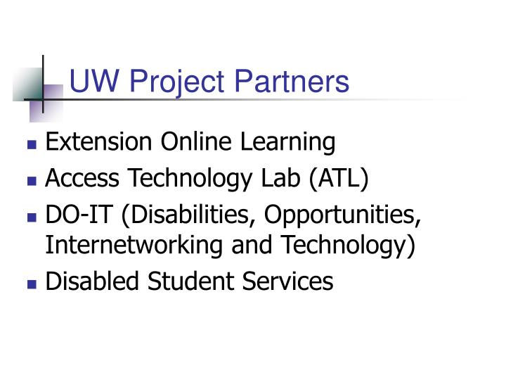 UW Project Partners