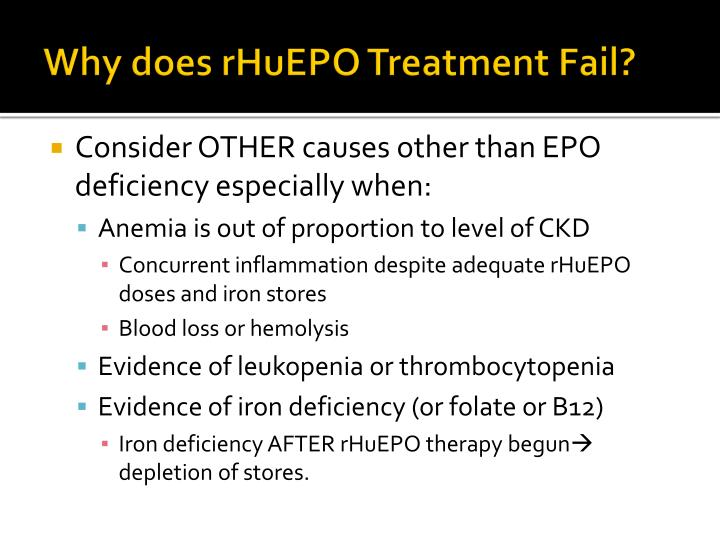 Why does rHuEPO Treatment Fail?