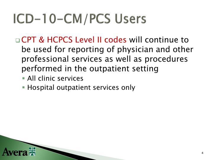 ICD-10-CM/PCS Users