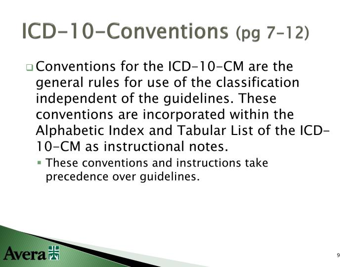 ICD-10-Conventions