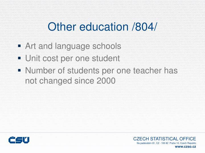 Other education /804/