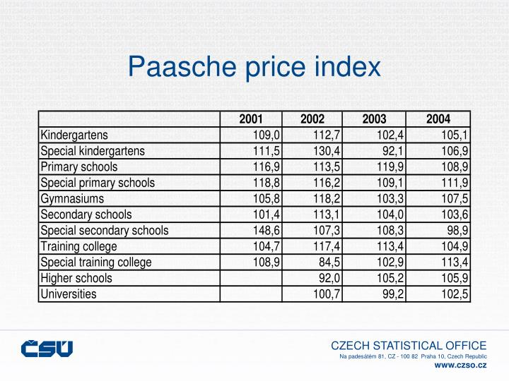 Paasche price index