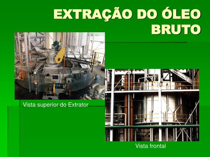 EXTRAÇÃO DO ÓLEO BRUTO