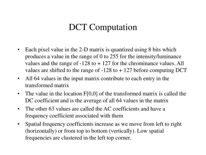 DCT Computation