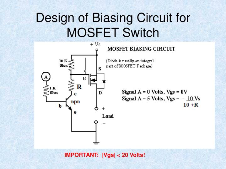 Design of Biasing Circuit for MOSFET Switch